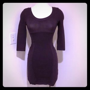 GUESS purple bodycon dress